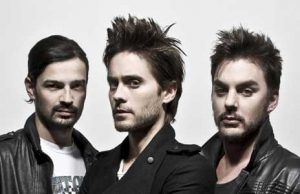 foto in primo piano dei Thirty Seconds To Mars