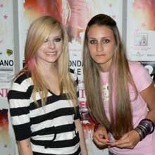 foto di Avril Lavigne al Meet&Greet a Bolzano