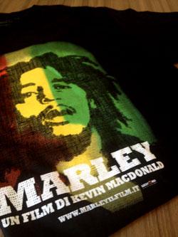 Bob Marley Tshirt film Marley Lucky Red