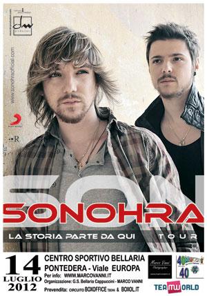 Sonohra concerto afterparty Pontedera 14 luglio 2012