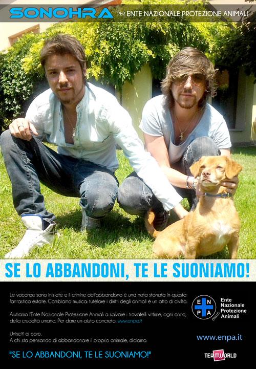 Sonohra ENPA locandina campagna difesa animali