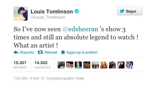 Louis Tomlinson Ed Sheeran live