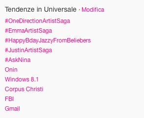 One Direction, Emma Marrone e Justin Bieber nelle tendenze Universali