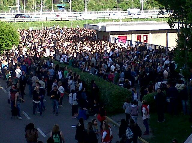 One Direction concerto Milano folla Assago
