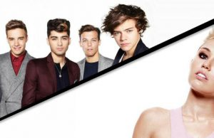 one direction vs miley cyrus