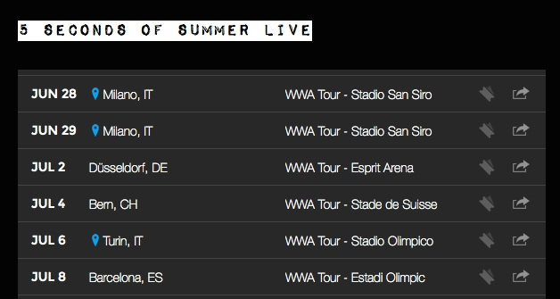 5 seconds of summer tour in europa