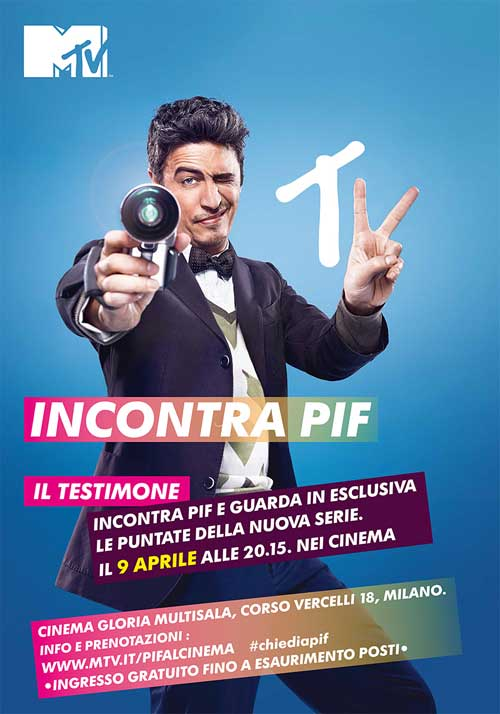 Pif Il Testimone nuova serie Cinema Gloria Milano