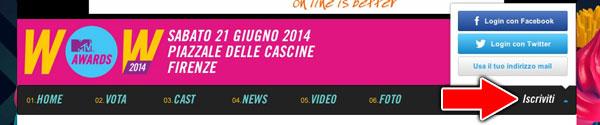 Login Community MTV Italia