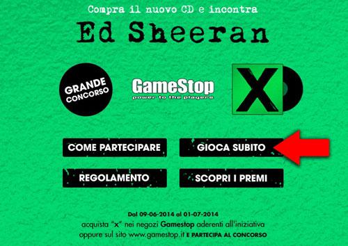 Gioca Subito Ed Sheeran Game Stop