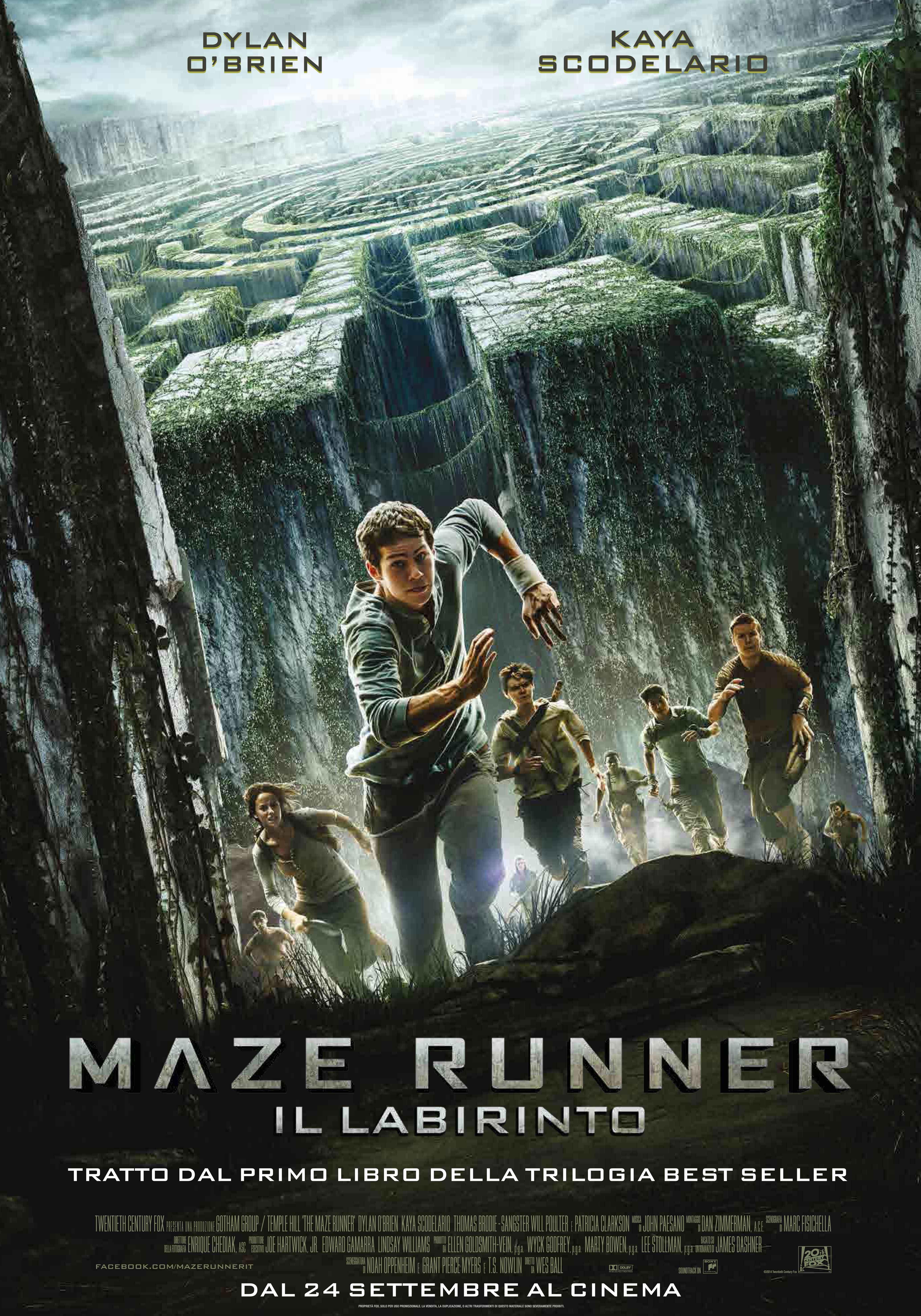 Maze Runner Il Labirinto Al Cinema Nuovo Trailer E Poster Italiani Con Dylan O Brien Team World