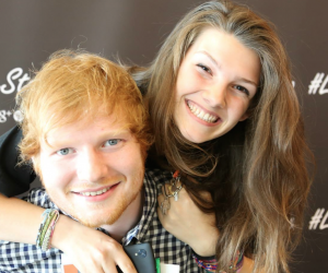 Ed Sheeran foto meet and greet gamestop milano