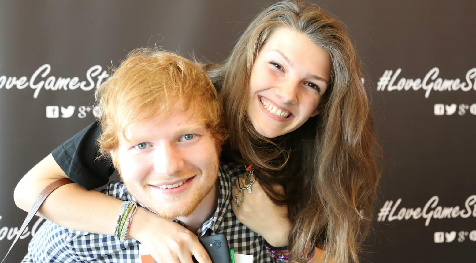 Ed Sheeran foto meet and greet gamestop milano