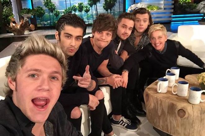 one direction ellen degeneres