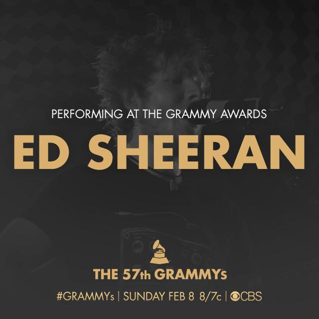Ed Sheeran Grammy Awards 2015