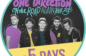 On the road again tour 5 giorni countdown