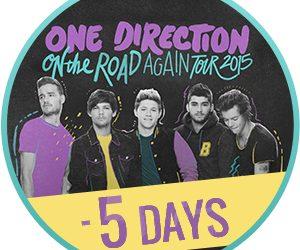 On the road again tour 5 giorni countdown