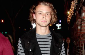 Ashton Irwin of 5 Seconds Of Summer seen arriving at the Roxy Theatre for Blink - 182 performance in Los Angeles
