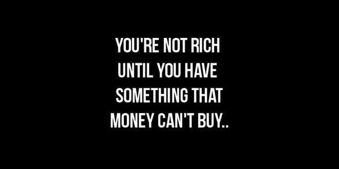 Be rich without money