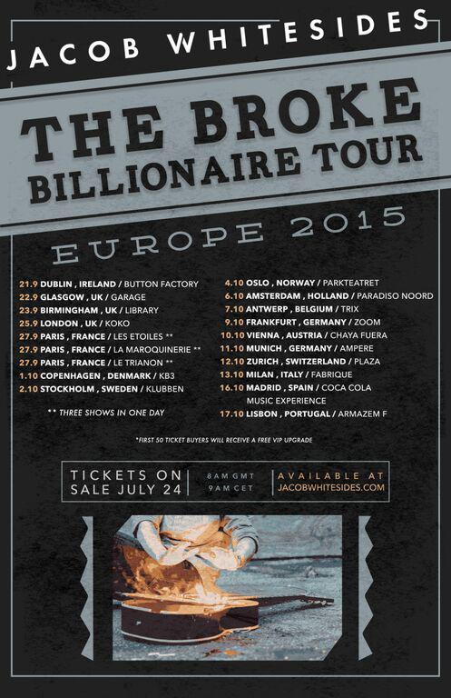 Jacob Whitesides The Broke Billionaire Tour