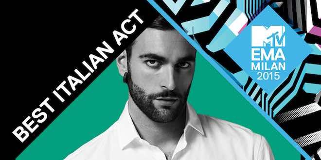 Marco Mengoni Best Italian Act agli MTV EMA 2015