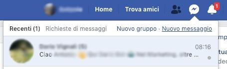 Messenger facebook da pc
