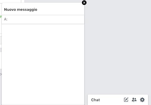 nuovo messaggio su messenger chat