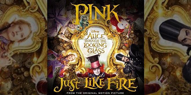 Pink just like fire per disney alice attraverso lo - Film alice attraverso lo specchio ...