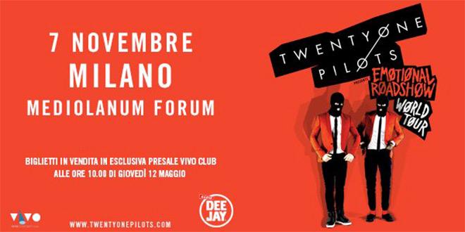 Twenty One Pilots Assago Milano Novembre 2016