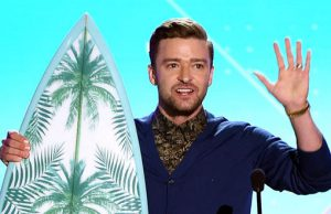 Justin Timberlake Decade Awards 2016