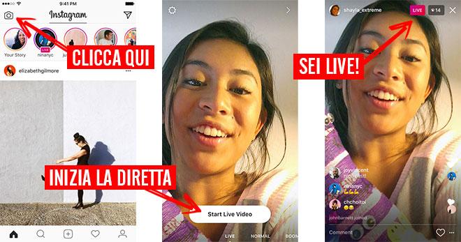 diretta live Instagram