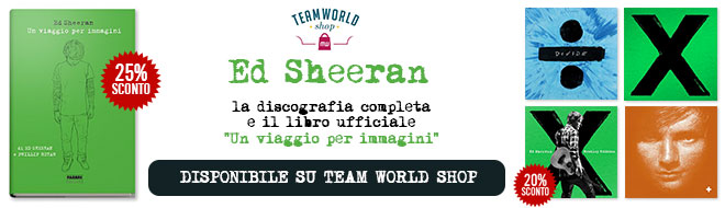 Ed Sheeran banner Team World Shop