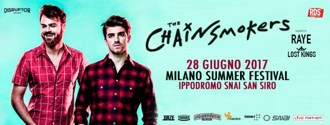 Chainsmokers concerto italia