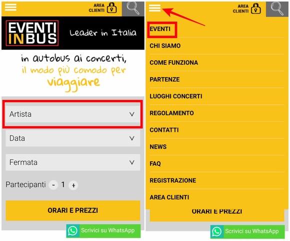 EVENTI IN bus CONCERTI