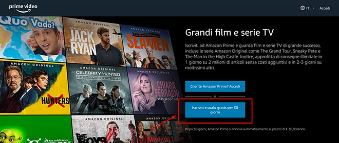 iscriversi Prime Video