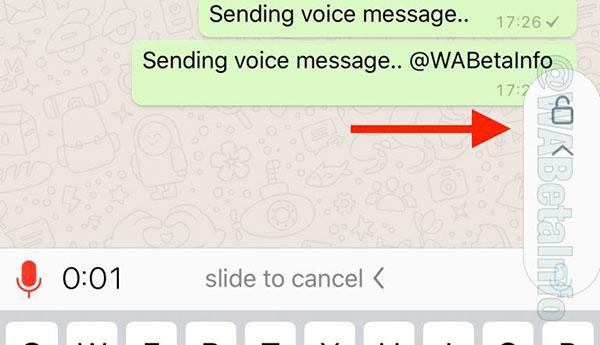WhatsApp audio senza tener premuto