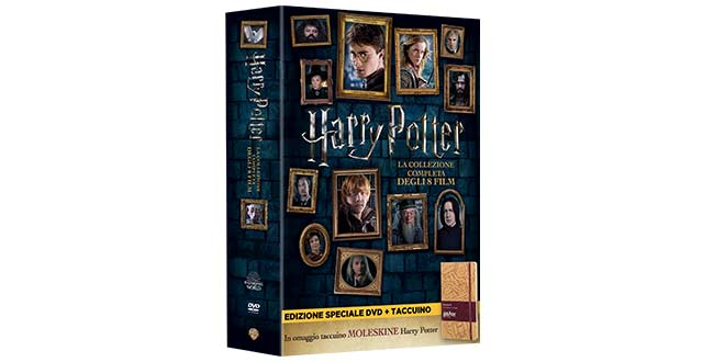 HARRY POTTER film cofanetto DVD CON MOLESKINE