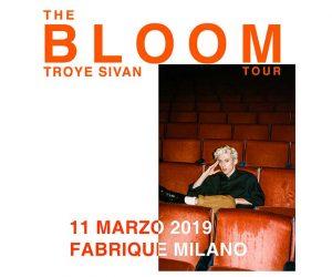 Troye Sivan biglietti milano concerto 2019