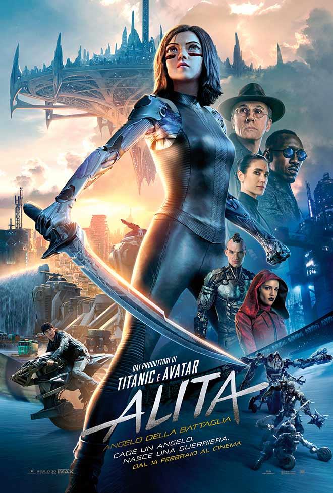 Alita Angelo della Battaglia - il poster ufficiale del film