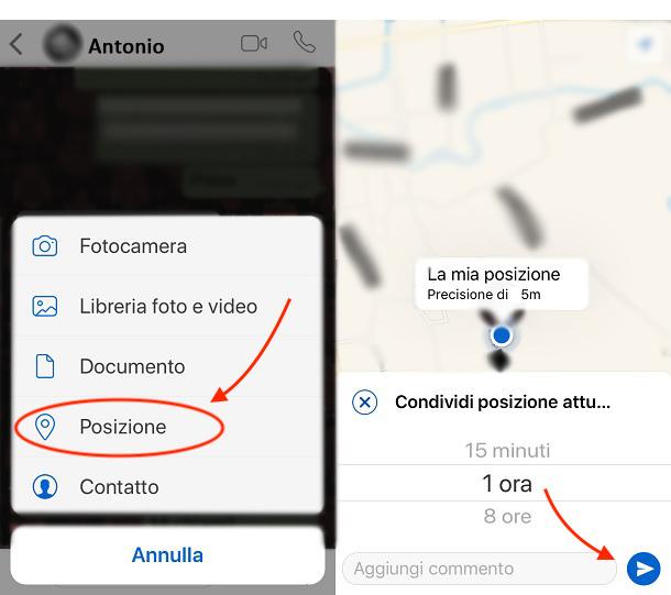Posizione-whatsapp-iOS