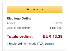 acquista ora amazon