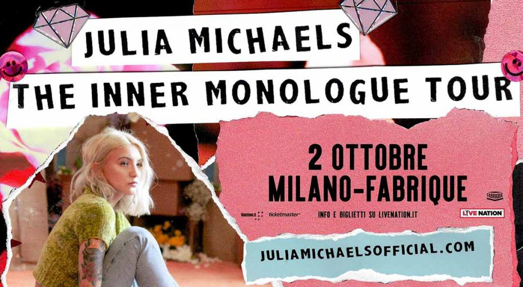 JULIA MICHAELS concerto Milano 2019
