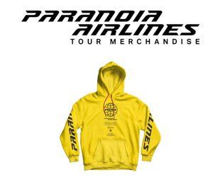 Paranoia Airlines Tour merchandise Fedez 2019