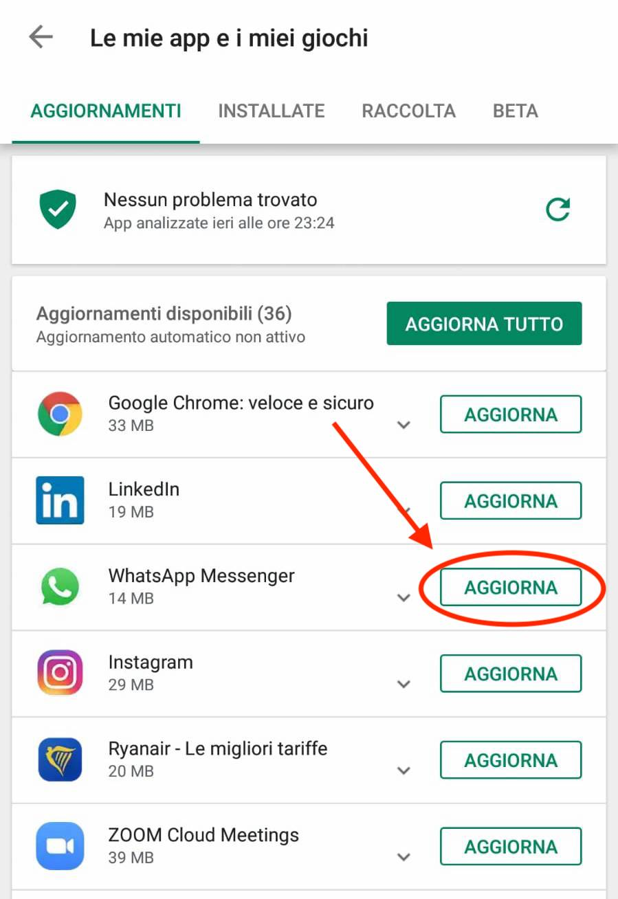 whatsapp android play store