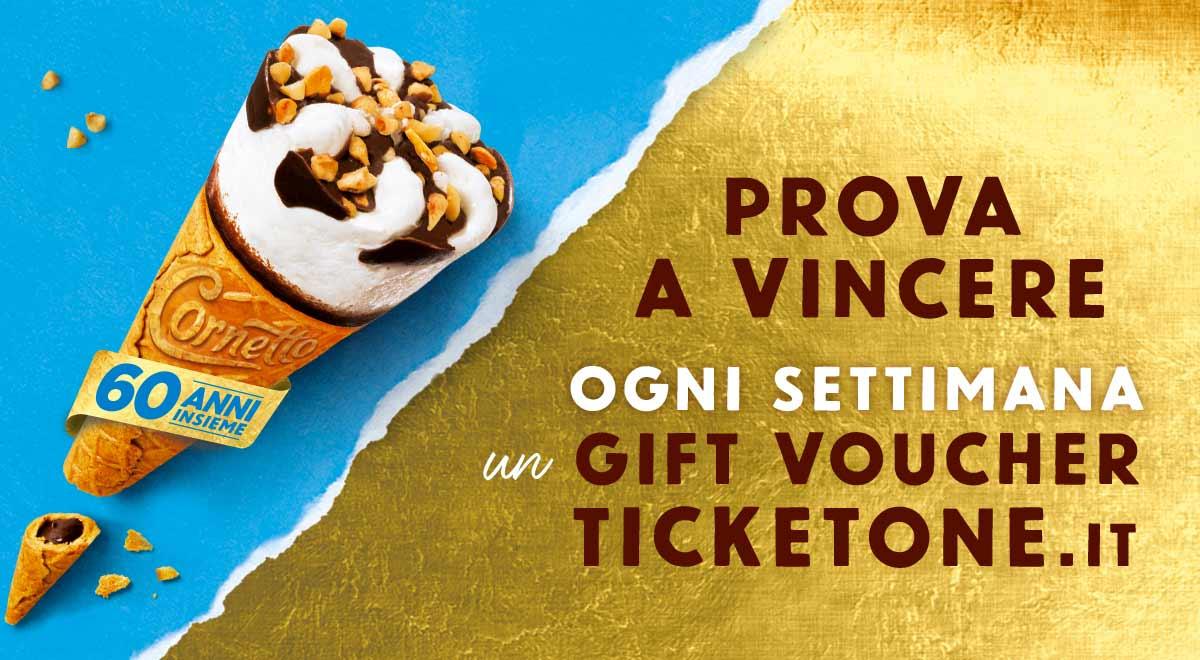 Concorso Cornetto Ticketone.it