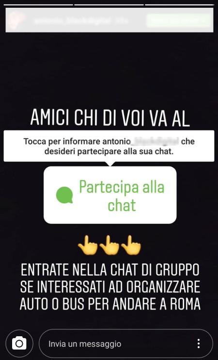 partecipare alla chat instagram