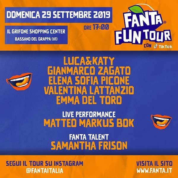 Fanta Fun Tour 29 settembre 2019 talent