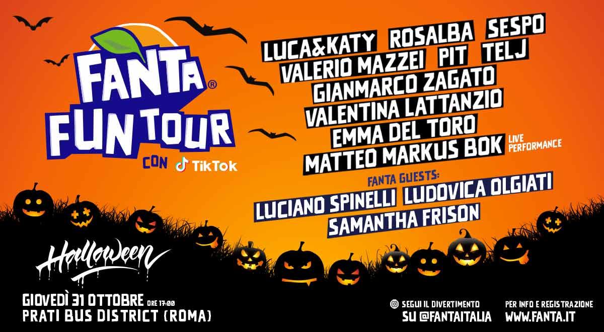 Festa Di Halloween 2020 Roma.Fanta Fun Tour A Roma Con Tiktok Per Halloween 2019 Tutti Gli Ospiti