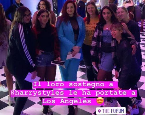 fan harry styles The Forum Los Angeles