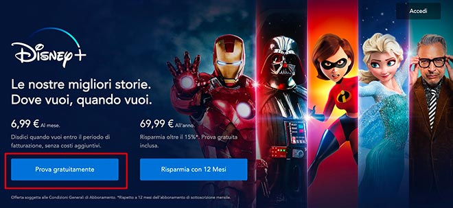 Disney Plus prova gratis