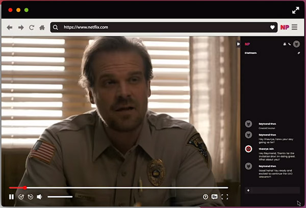 Netflix Party estensione Google Chrome